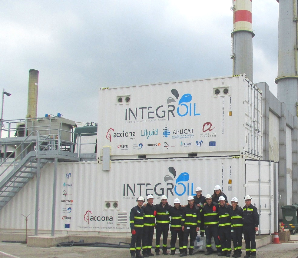 The INTEGROIL pilot plant is in operation in the downstream scenario.