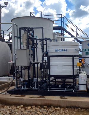 Onshore produced water treatment and reuse