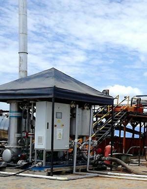 Tratamiento y reutilizacíon de agua de proceso Onshore